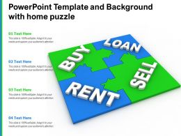 Powerpoint Template And Background With Home Puzzle