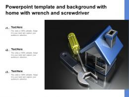 Powerpoint Template And Background With Home With Wrench And Screwdriver