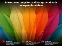 Powerpoint Template And Background With Honeycomb Rainbow