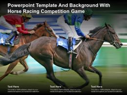 Powerpoint Template And Background With Horse Racing Competition Game
