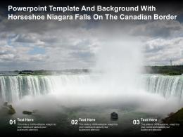 Powerpoint Template And Background With Horseshoe Niagara Falls On The Canadian Border
