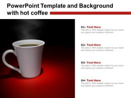 Powerpoint Template And Background With Hot Coffee