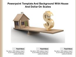 Powerpoint Template And Background With House And Dollar On Scales