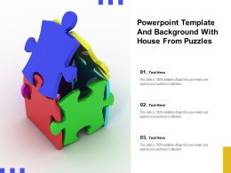 Powerpoint Template And Background With House From Puzzles