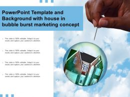 Powerpoint Template And Background With House In Bubble Burst Marketing Concept