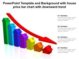 Powerpoint Template And Background With House Price Bar Chart With Downward Trend