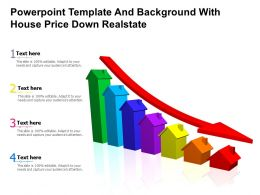 Powerpoint Template And Background With House Price Down Real State