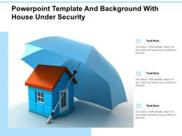 Powerpoint Template And Background With House Under Security