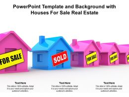 Powerpoint Template And Background With Houses For Sale Real Estate