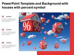 Powerpoint Template And Background With Houses With Percent Symbol
