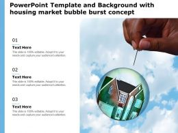 Powerpoint Template And Background With Housing Market Bubble Burst Concept