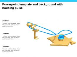 Powerpoint Template And Background With Housing Pulse