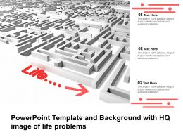 Powerpoint Template And Background With HQ Image Of Life Problems