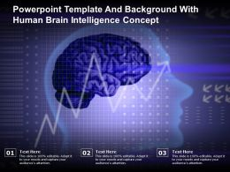 Powerpoint Template And Background With Human Brain Intelligence Concept