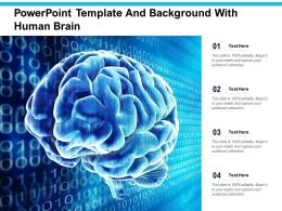 Powerpoint Template And Background With Human Brain