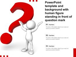 Powerpoint Template And Background With Human Figure Standing In Front Of Question Mark