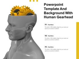 Powerpoint Template And Background With Human Gearhead