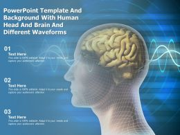 Powerpoint Template And Background With Human Head And Brain And Different Waveforms