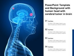 Powerpoint Template And Background With Human Head With Cerebral Tumor In Brain