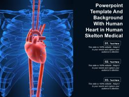 Powerpoint Template And Background With Human Heart In Human Skelton Medical