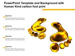 Powerpoint Template And Background With Human Kind Carbon Foot Print