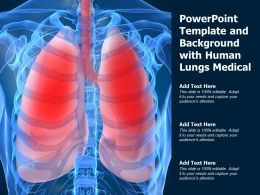 Powerpoint Template And Background With Human Lungs Medical