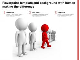Powerpoint Template And Background With Human Making The Difference