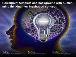 Powerpoint Template And Background With Human Mind Thinking New Inspiration Concept