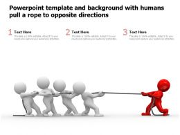 Powerpoint Template And Background With Humans Pull A Rope To Opposite Directions