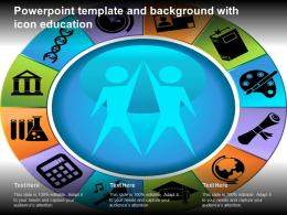 Powerpoint Template And Background With Icon Education