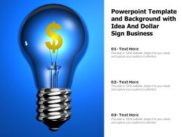 Powerpoint Template And Background With Idea And Dollar Sign Business