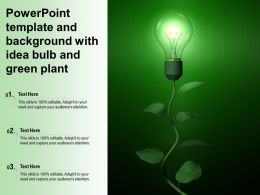 Powerpoint Template And Background With Idea Bulb And Green Plant