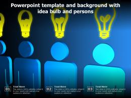Powerpoint Template And Background With Idea Bulb And Persons