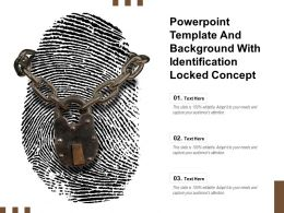 Powerpoint Template And Background With Identification Locked Concept