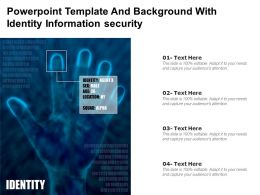 Powerpoint Template And Background With Identity Information Security