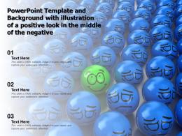 Powerpoint Template And Background With Illustration Of A Positive Look In The Middle Of The Negative