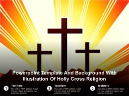 Powerpoint Template And Background With Illustration Of Holly Cross Religion