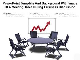 Powerpoint Template And Background With Image Of A Meeting Table During Business Discussion