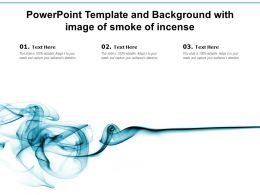Powerpoint Template And Background With Image Of Smoke Of Incense