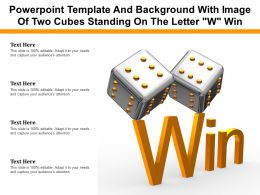 Powerpoint Template And Background With Image Of Two Cubes Standing On The Letter W Win