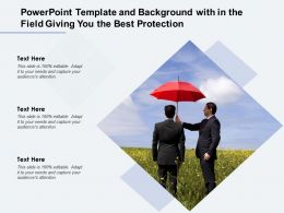 Powerpoint Template And Background With In The Field Giving You The Best Protection