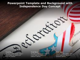 Powerpoint Template And Background With Independence Day Concept