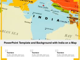 Powerpoint Template And Background With India On A Map