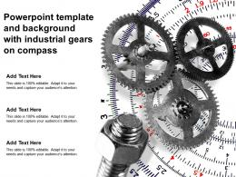 Powerpoint Template And Background With Industrial Gears On Compass