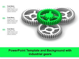 Powerpoint Template And Background With Industrial Gears