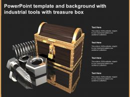 Powerpoint Template And Background With Industrial Tools With Treasure Box