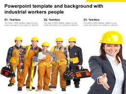 Powerpoint Template And Background With Industrial Workers People