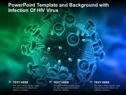 Powerpoint Template And Background With Infection Of HIV Virus