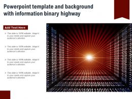 Powerpoint Template And Background With Information Binary Highway