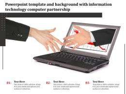 Powerpoint Template And Background With Information Technology Computer Partnership